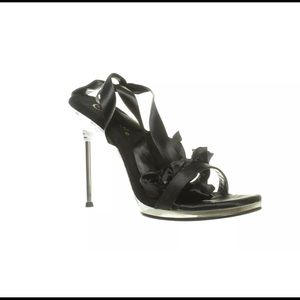 NWB Pleaser Black 8M Chic 14 Ankle Strap High Heel